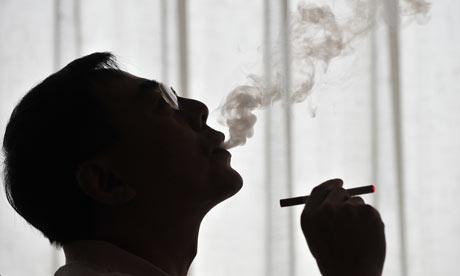 Sposób wydychania dymu